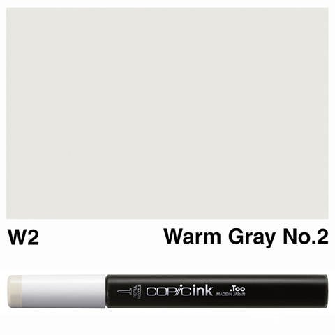 Picture of Copic Ink W2 - Warm Gray No.2 12ml