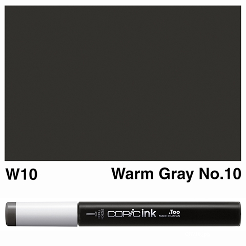 Picture of Copic Ink W10 - Warm Gray No.10 12ml