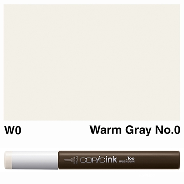 Picture of Copic Ink W0 - Warm Gray No.0 12ml