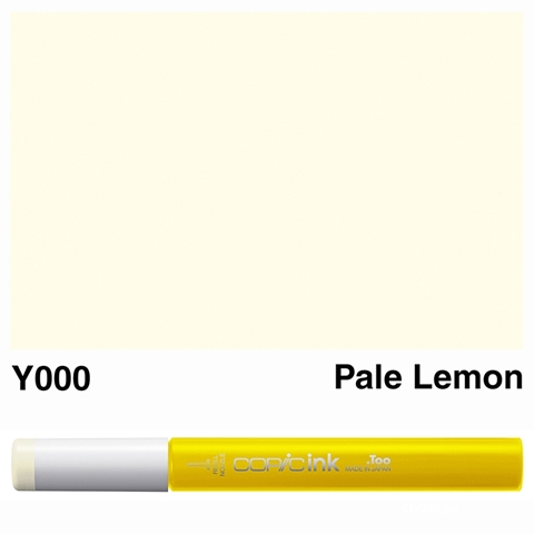 Picture of Copic Ink Y000 - Pale Lemon 12ml