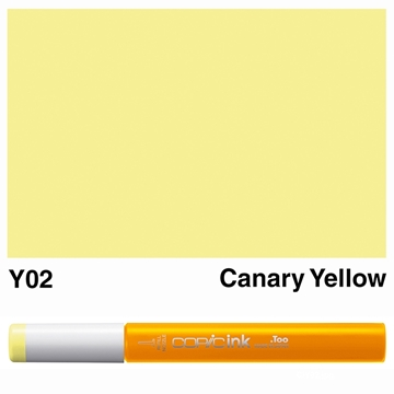 Picture of Copic Ink Y02 - Canary Yellow 12ml