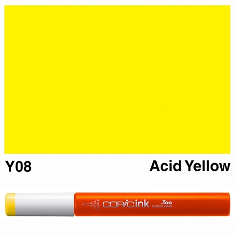 Picture of Copic Ink Y08 - Acid Yellow 12ml