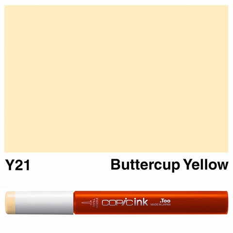 Picture of Copic Ink Y21 - Buttercup Yellow 12ml