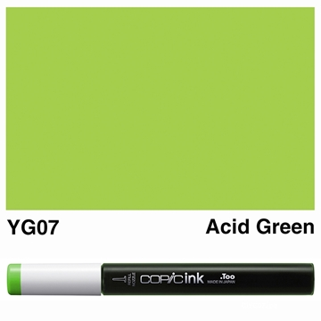 Picture of Copic Ink YG07 - Acid Green 12ml