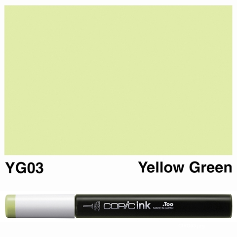 Picture of Copic Ink YG03 - Yellow Green 12ml