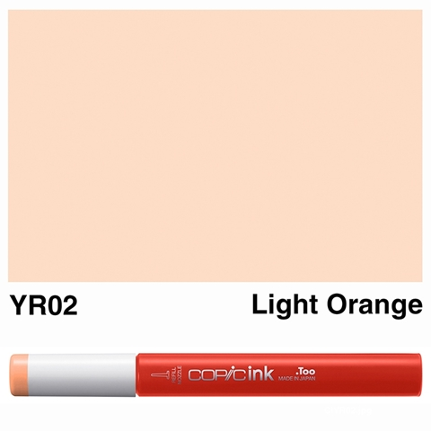Picture of Copic Ink YR02 - Light Orange 12ml